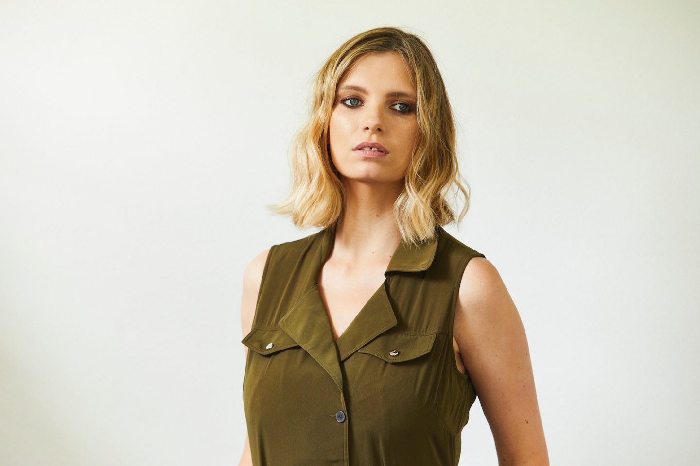 karen millen khaki satin maxi dress
