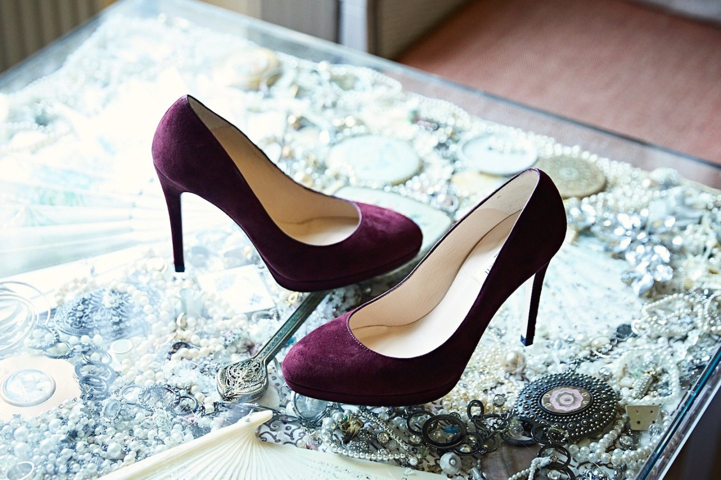 sledge oxblood court shoes lk bennett