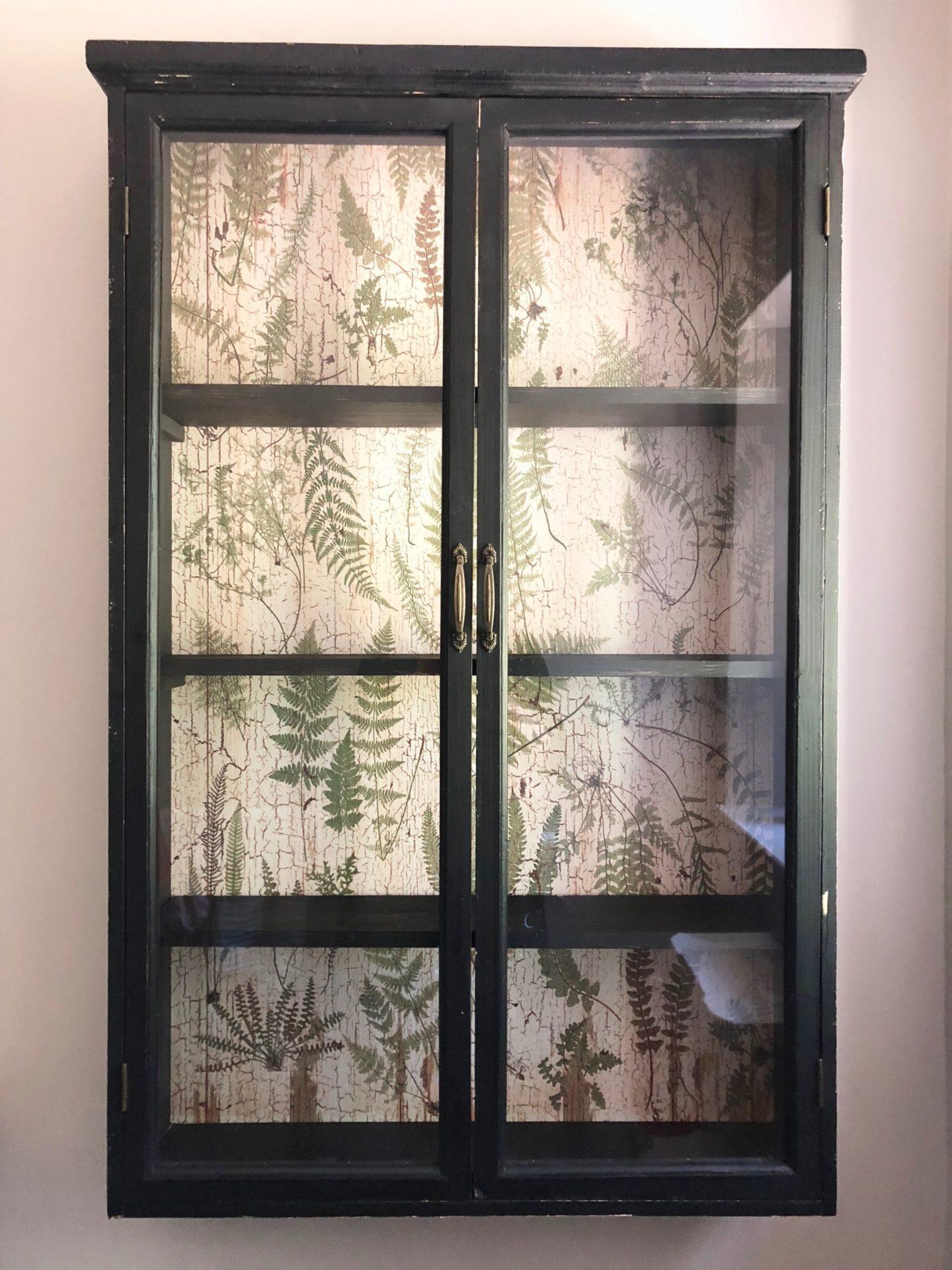 botanical print cabinet