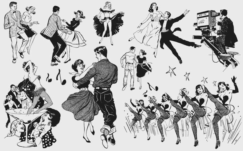 retro hoedown dance