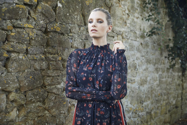 me and em floral georgette dress