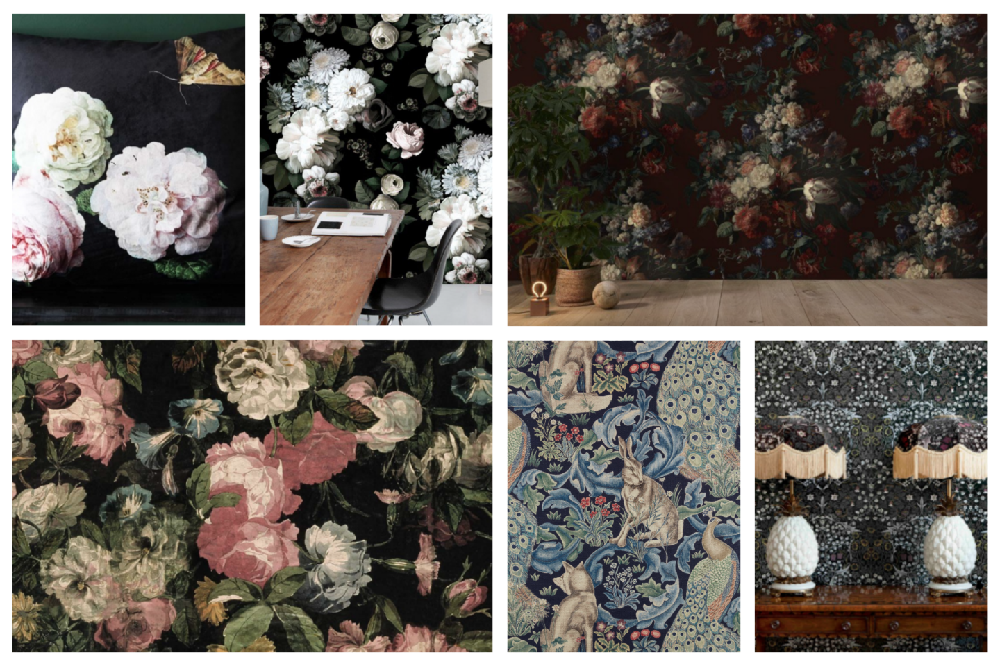 Weekly Window Shop Floral Noir Interiors A Model Recommends