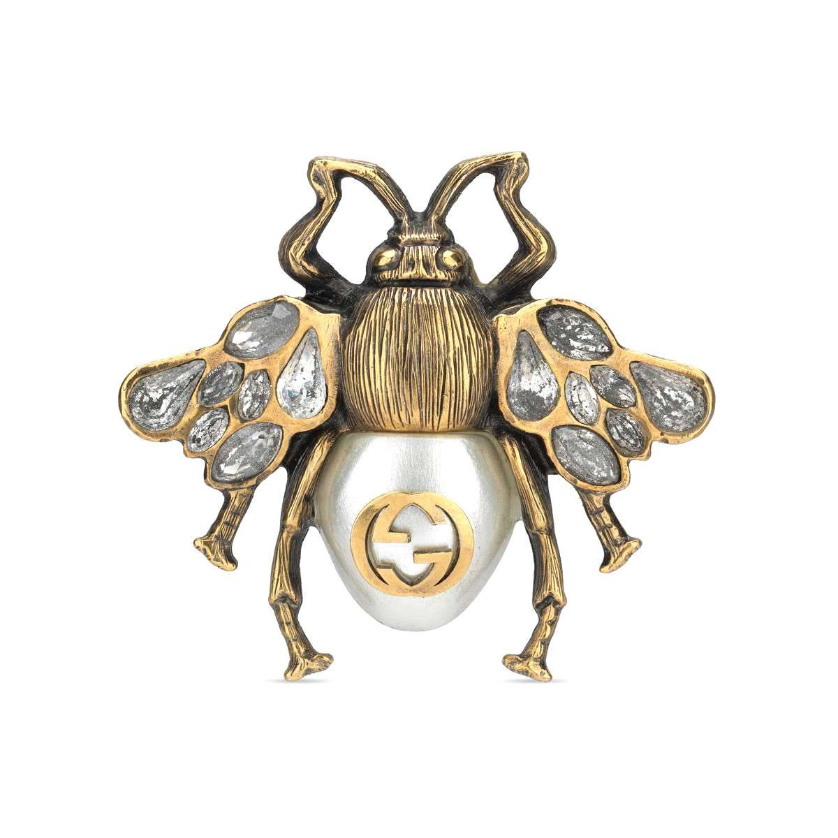 gucci bee ring pearl