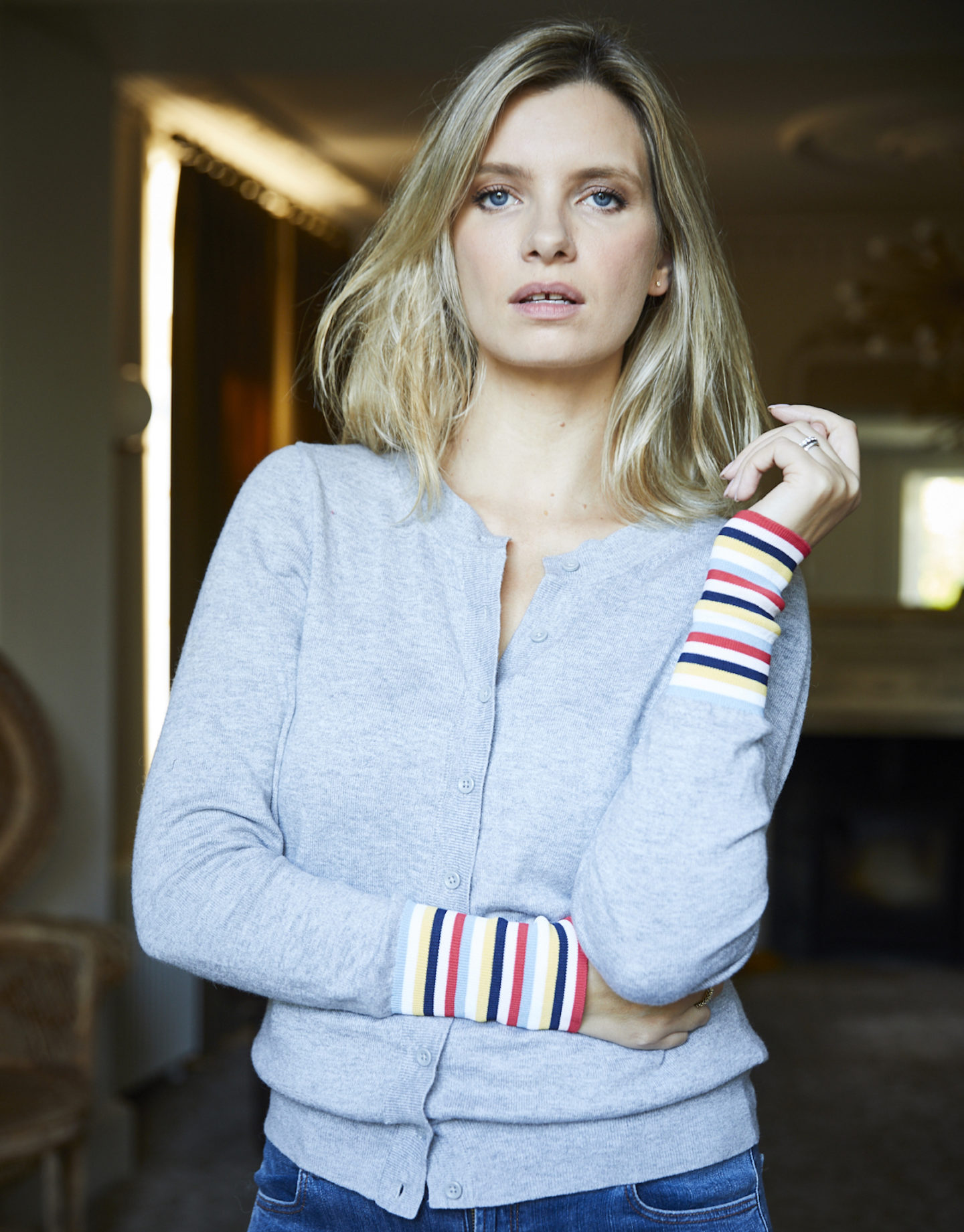 boden cardigan stripe sleeve