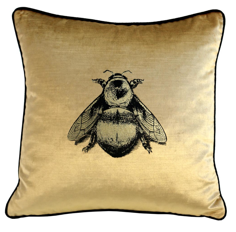 timorous beasties bee cushion