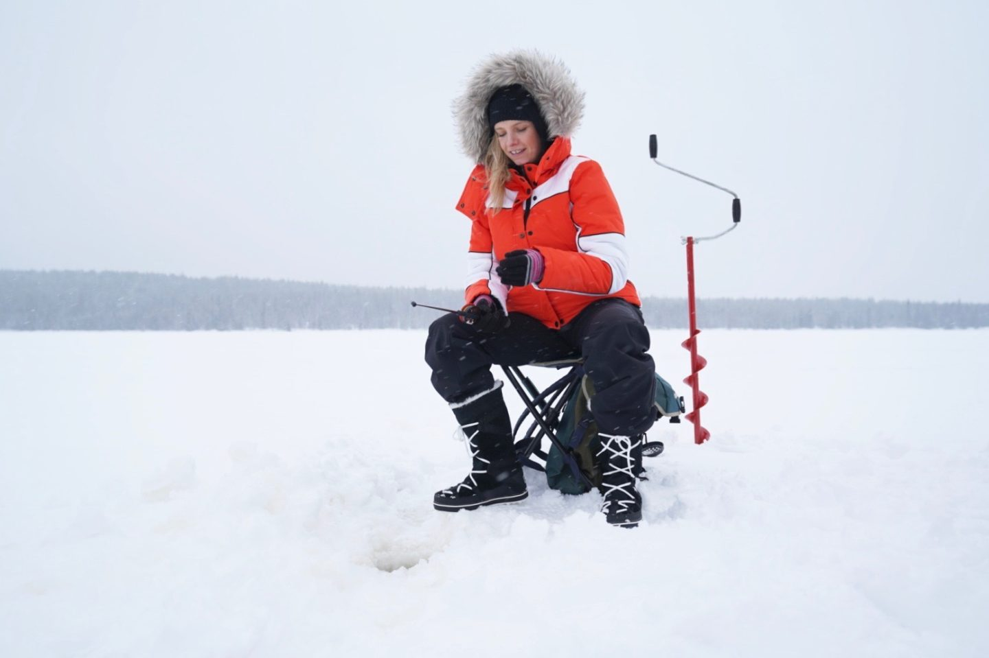 ruth crilly ice fishing