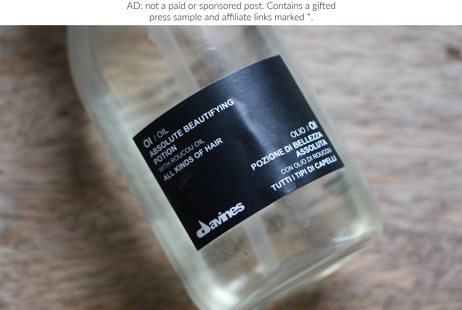 Haircare Review: Davines OI Oil